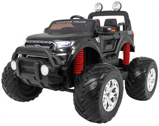 Ford ranger monster 4x4 czarny duży samochód na akumulator + pilot