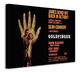 James bond goldfinger - hand - obraz na płótnie