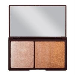 Makeup revolution chocolate bronze  shimmer - paletka do konturowania twarzy