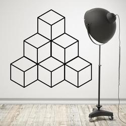 Geometryczna piramida - designerska naklejka , kolor naklejki - czarna, wymiary naklejki - 250cm x 250cm