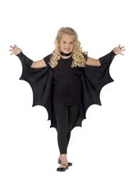 Strój skrzydła nietoperza czarna peleryna halloween kids