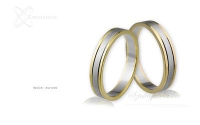 Obrączki ślubne - wzór au-339