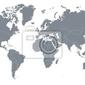 Fototapeta szary mapa świata