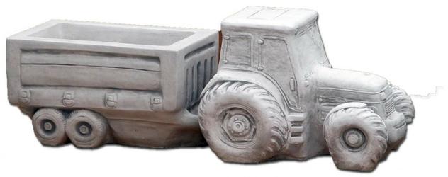 Dekoracja betonowa, przyczepa 25cm