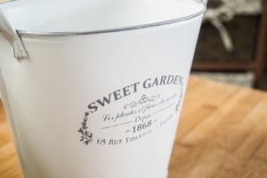 Metalowa osłonka na doniczkę sweet garden owalna 23.5 cm