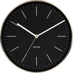 Zegar ścienny Minimal złoty czarny