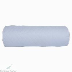 Poduszka - wałek - pikowana - błękitna