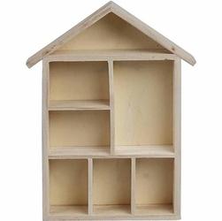 Drewniany domek prostokątny 17x29,8 cm