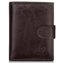 Skórzany portfel męskie paolo peruzzi ga173 brązowy - brązowy