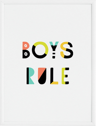 Plakat Boys Rule 30 x 40 cm