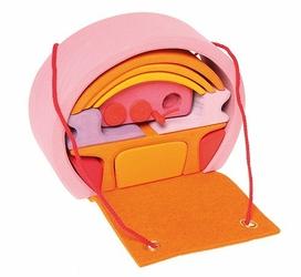 Dom mobilny 3+, różowo-pomarańczowy, Grimms - różowo-pomarańczowy