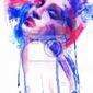 Fototapeta piękna kobieta. ręcznie malowane ilustracji mody