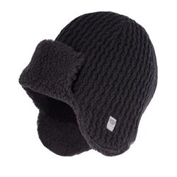 Czarna ciepła męska zimowa czapka uszatka