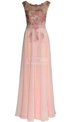 Wieczorowa długa suknia z perłami i gipiurowym haftem r.36 - r.46