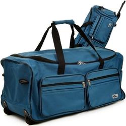 Duża walizka podróżna na kółkach 85 litrów - niebieski  85 l