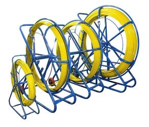 Włókno szklane do przeciągania kabli 4,5mm  50m pilot  stalka pe + stojak - szybka dostawa lub możliwość odbioru w 39 miastach