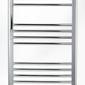 Zestaw: grzejnik łazienkowy york 500x800 chrom + kątowy zawór termostatyczny z zaworem odcinającym