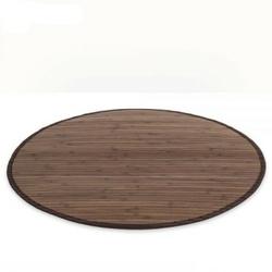 Mata bambusowa okrągła dywanik bambusowy 180cm ciemnobrązowy