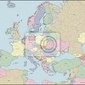 Fototapeta mapa europy