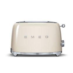 Smeg - toster na 2 kromki - kremowy - kremowy