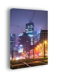 Warszawa city - obraz na płótnie wymiar do wyboru: 90x120 cm