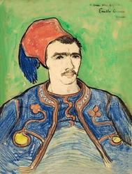 The zouave, vincent van gogh - plakat wymiar do wyboru: 29,7x42 cm