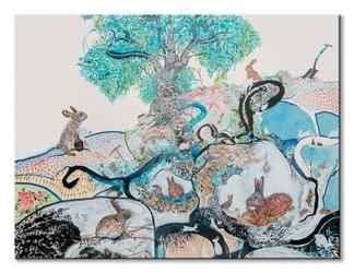 Bunnies and burrows - obraz na płótnie