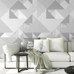 Tapeta na ścianę - silver glitter , rodzaj - tapeta flizelinowa laminowana