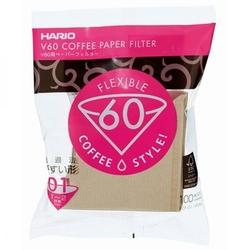Hario | filtry papierowe do dripa brązowe - rozmiar 01 100 szt.