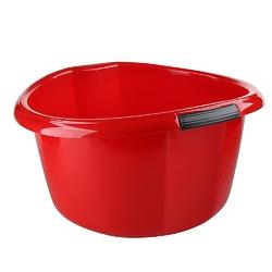 Miska na pranie  łazienkowa z uchwytami plastikowa okrągła solidna bentom czerwona 25 l