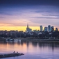 Warszawa panorama - plakat premium wymiar do wyboru: 70x50 cm