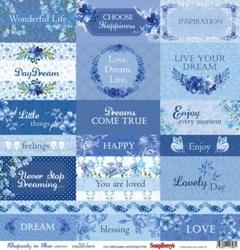 Uroczy papier Rhapsody in Blue 30,5x30,5cm Cards 1 - 07
