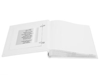 Biały album zdjęcie pary młodej ślub prezent dedykacja