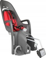 Fotelik rowerowy zenith relax szary, czerwona wyściółka