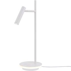 Lampka biurkowa led nowoczesna, minimalistyczna estudo maytoni biała z010tl-l8w3k