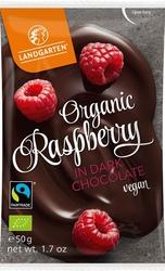 Landgarten | liofilizowane maliny w gorzkiej czekoladzie | gluten free - organic - fairtrade