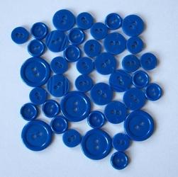 Kolorowe guziki 3 wielkości40 szt. - chabrowy - CHAB