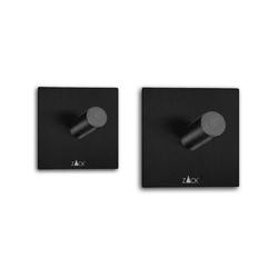 Zack - duplo - zestaw 2 haczyków, czarny