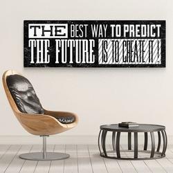 Create the future - obraz motywacyjny na płótnie , wymiary - 120cm x 40cm