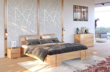 Łóżko drewniane bukowe skandica vestre maxi  long