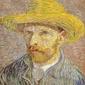 Reprodukcja self-portrait with straw hat, vincent van gogh