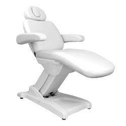 Fotel kosmetyczny elektr. azzurro 875b 3 siln. biały