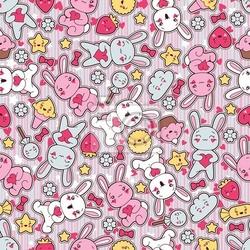 Fototapeta seamless kawaii wzór dziecko z cute doodle.