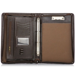 Aktówka biwuar na dokumenty a4 solier st01 ciemny brąz - brązowy