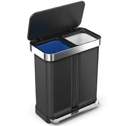 Kosz pedałowy dwukomorowy 24+34 litry liner pocket recycler simplehuman cw2054