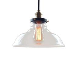 Lampa sufitowa industrialna retro szkło klosz