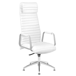 Fotel kosmetyczny rico 186 do pedicure i makijażu biały