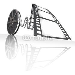 Obraz na płótnie canvas dwuczęściowy dyptyk taśma filmowa.