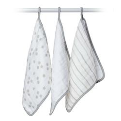 Zestaw myjek bawełnianych lulujo - szary