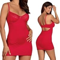 Jolierose koszulka i stringi czerwone : rozmiar - lxl